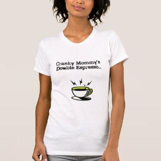 Camisetas sin mangas dobles del café express de la