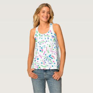 Camisetas sin mangas en colores pastel de la parte