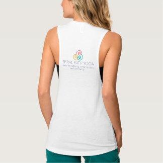 Camisetas sin mangas espirales de la yoga de la