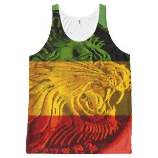 Camisetas sin mangas etíopes del león de Rasta
