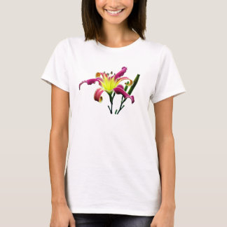 Camisetas sin mangas florales del Daylily de la