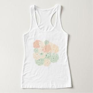 Camisetas sin mangas florales en colores pastel