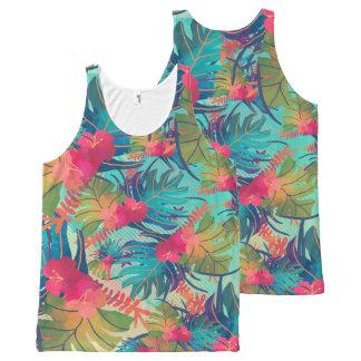 Camisetas sin mangas florales tropicales de la