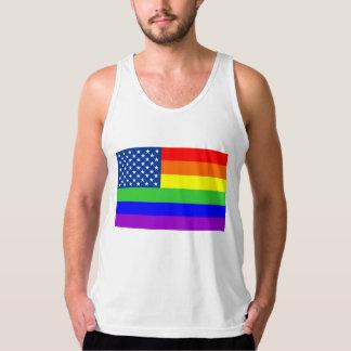 Camisetas sin mangas gay de la bandera del orgullo