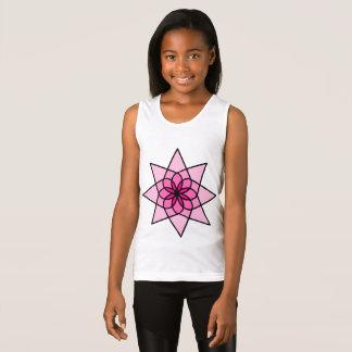 Camisetas sin mangas geométricas rosadas de los