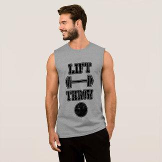 Camisetas sin mangas lanzamiento de peso del