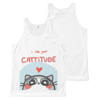 Camisetas sin mangas lindas de Cattitude
