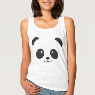 Camisetas sin mangas lindas y mimosas de la panda