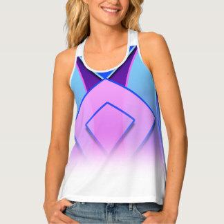 Camisetas sin mangas rosadas púrpuras azules