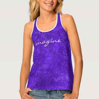 Camisetas sin mangas ultravioletas del espacio