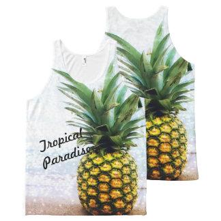 Camisetas sin mangas unisex del paraíso tropical