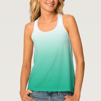 Camisetas sin mangas verdes verde azuladas del