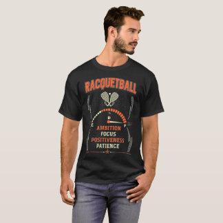 camisetas valientes del Racquetball del foco de la