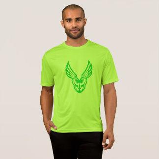 Camisetas verde del color claro del logotipo de