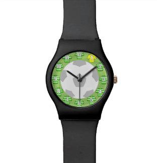 Camisetas verde y blanco hooped del reloj del
