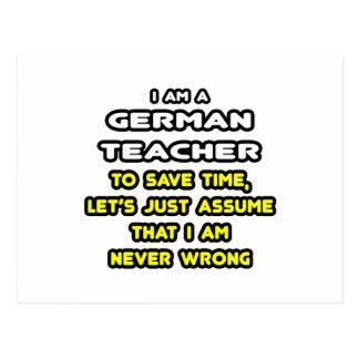 Camisetas y regalos alemanes divertidos del profes postal