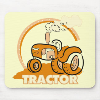 Camisetas y regalos anaranjados del tractor alfombrilla de ratones