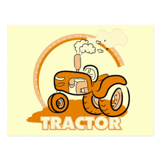 Camisetas y regalos anaranjados del tractor postal