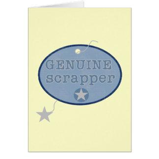 Camisetas y regalos auténticos del Scrapper Tarjeta De Felicitación