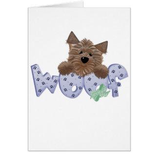 Camisetas y regalos azules del perro del tejido tarjeta de felicitación