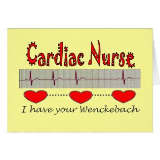Camisetas y regalos cardiacos de la enfermera tarjeta de felicitación