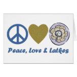 Camisetas y regalos de Jánuca de la paz, del amor  Tarjeton
