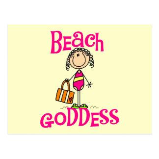 Camisetas y regalos de la diosa de la playa postal
