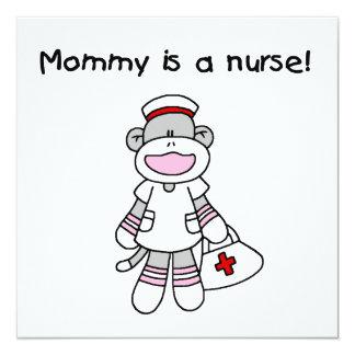 Camisetas y regalos de la enfermera de la mamá del invitación 13,3 cm x 13,3cm