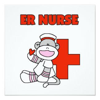 Camisetas y regalos de la enfermera del ER del Invitación 13,3 Cm X 13,3cm