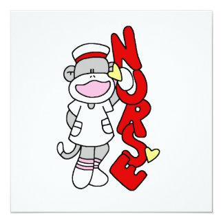 Camisetas y regalos de la enfermera del mono del invitación 13,3 cm x 13,3cm