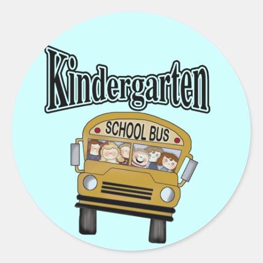 Camisetas y regalos de la guardería del autobús etiquetas redondas