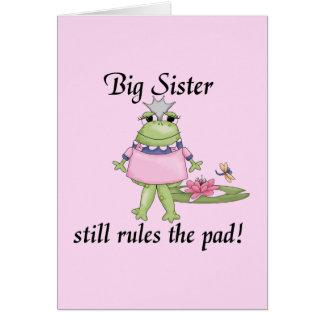 Camisetas y regalos de la hermana grande tarjeta de felicitación