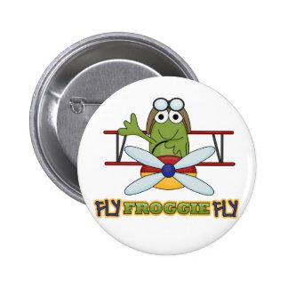 Camisetas y regalos de la mosca de Froggie de la m Pins