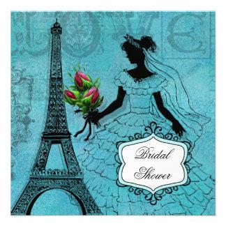 Camisetas y regalos de la novia de la torre Eiffel Comunicado Personalizado
