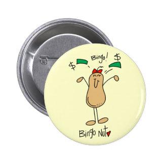 Camisetas y regalos de la nuez del bingo chapa redonda 5 cm