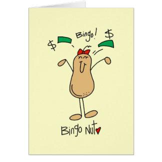 Camisetas y regalos de la nuez del bingo tarjeta de felicitación