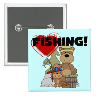 Camisetas y regalos de la pesca del CORAZÓN Pins