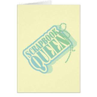 Camisetas y regalos de la reina del libro de recue tarjetón