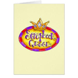 Camisetas y regalos de la reina del libro de recue tarjeta de felicitación