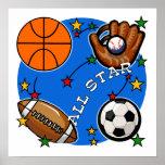 Camisetas y regalos de los deportes de All Star Posters