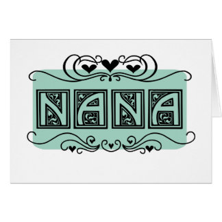 Camisetas y regalos de Nana del letrero Tarjeta