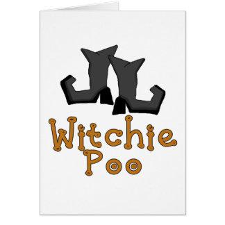 Camisetas y regalos de Witchie Poo Tarjeta De Felicitación