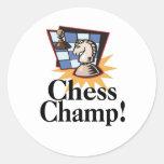 Camisetas y regalos del ajedrez pegatinas redondas