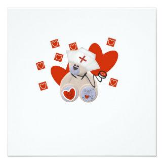 Camisetas y regalos del amor de la enfermera del invitación 13,3 cm x 13,3cm