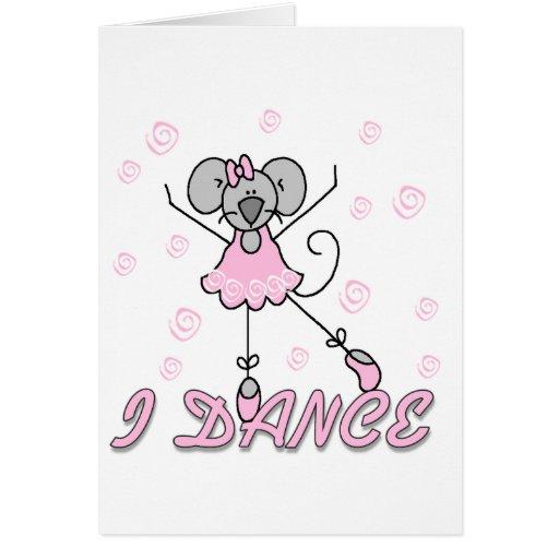 Camisetas y regalos del ballet del ratón tarjetas