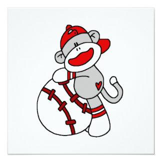 Camisetas y regalos del béisbol del mono del invitación 13,3 cm x 13,3cm