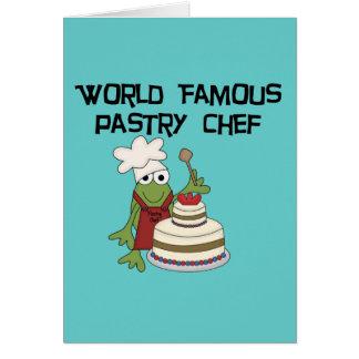 Camisetas y regalos del chef de repostería de la r tarjetas