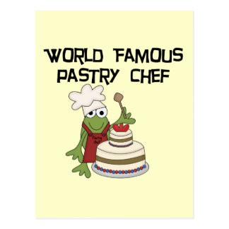 Camisetas y regalos del chef de repostería de la postal