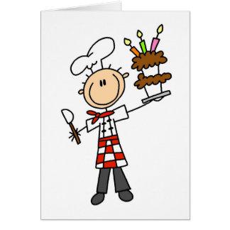 Camisetas y regalos del chef de repostería tarjeta de felicitación