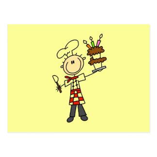 Camisetas y regalos del chef de repostería postal